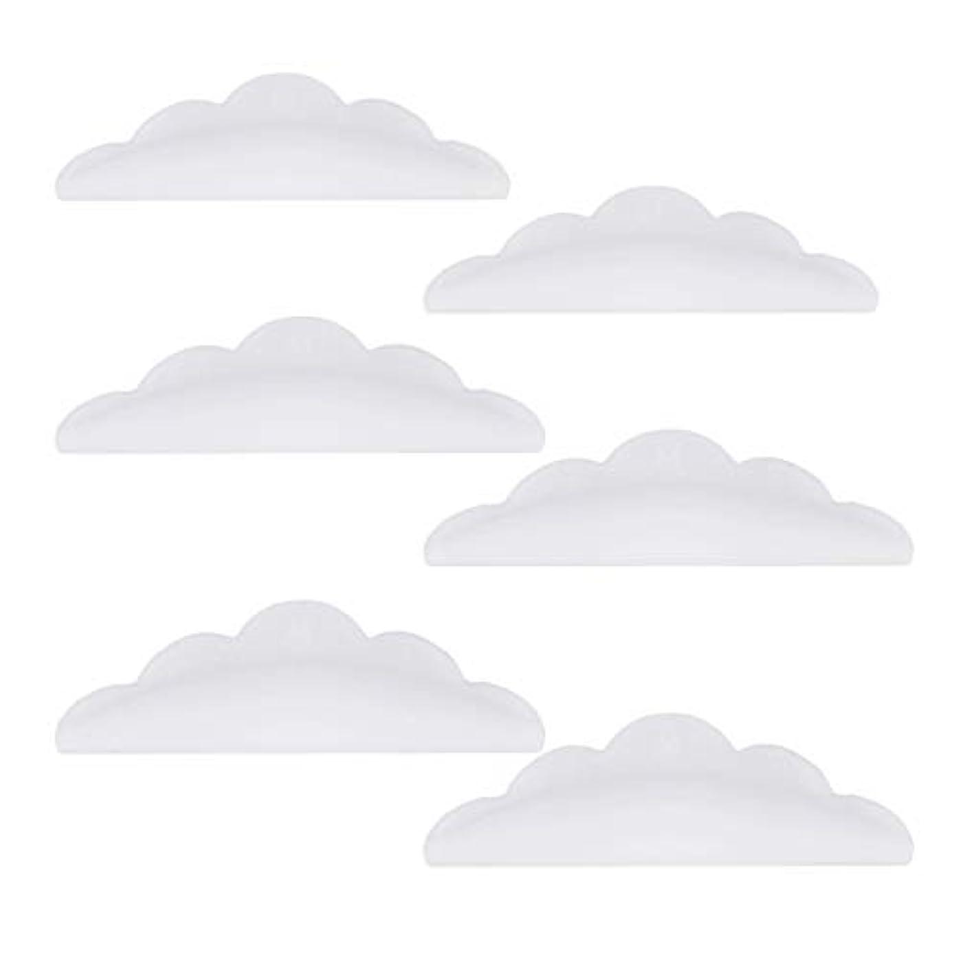 モニカネスト前方へLurrose 24本のシリコーンまつげパーマカーラーシールドパッド化粧道具(ホワイト)