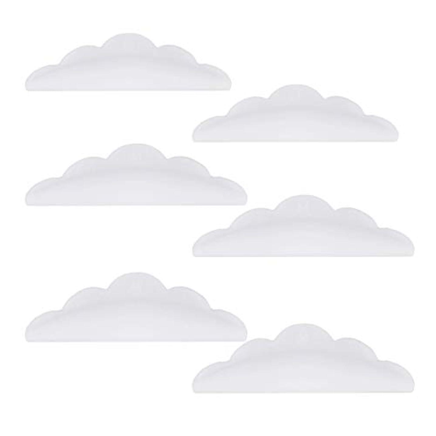 痛み破裂限られたLurrose 24本のシリコーンまつげパーマカーラーシールドパッド化粧道具(ホワイト)