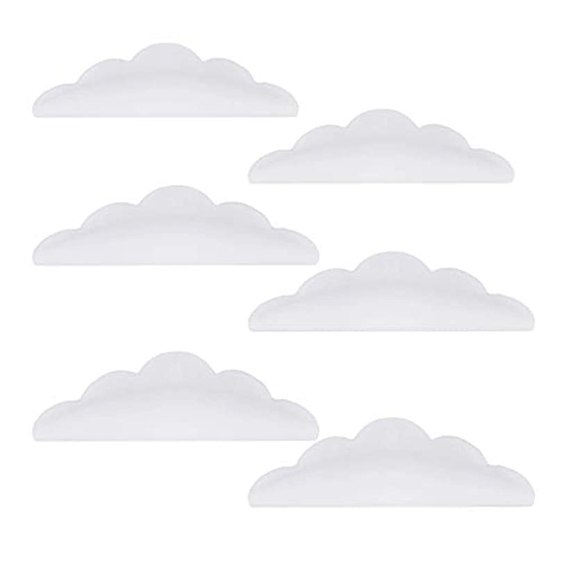 民間部分シンクLurrose 24本のシリコーンまつげパーマカーラーシールドパッド化粧道具(ホワイト)