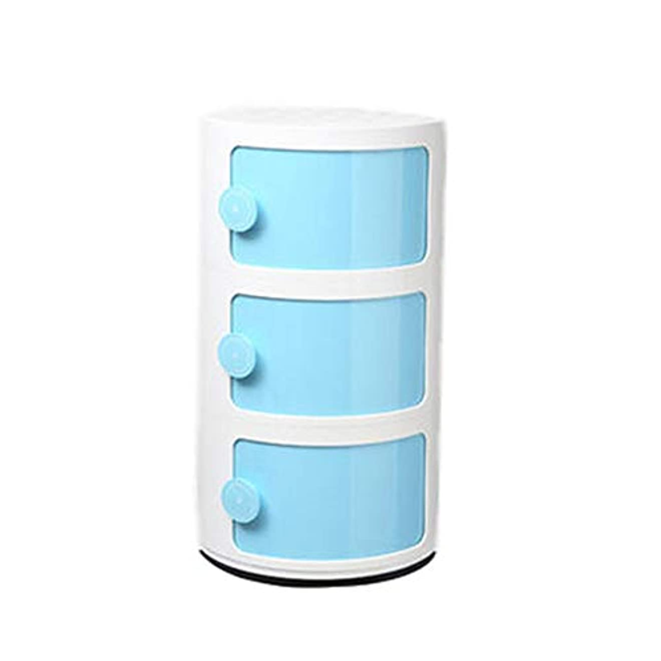 迷惑テメリティ特定の3層コーナープラスチックキャビネット収納ロッカー、多機能ナイトスタンドラウンドキャビネット、ベッド、ソファ、オフィス、デスクに最適です。防湿、シンプルで実用的