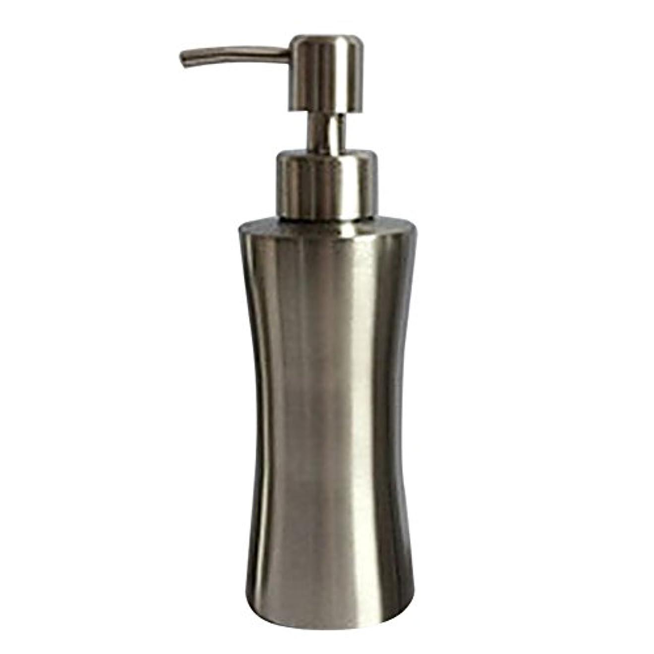 グローバル健康的優雅なディスペンサー ステンレス ボトル 容器 ソープ 石鹸 シャンプー 手洗いボトル 耐久性 錆びない 220ml/250ml/400ml (B:250ml)