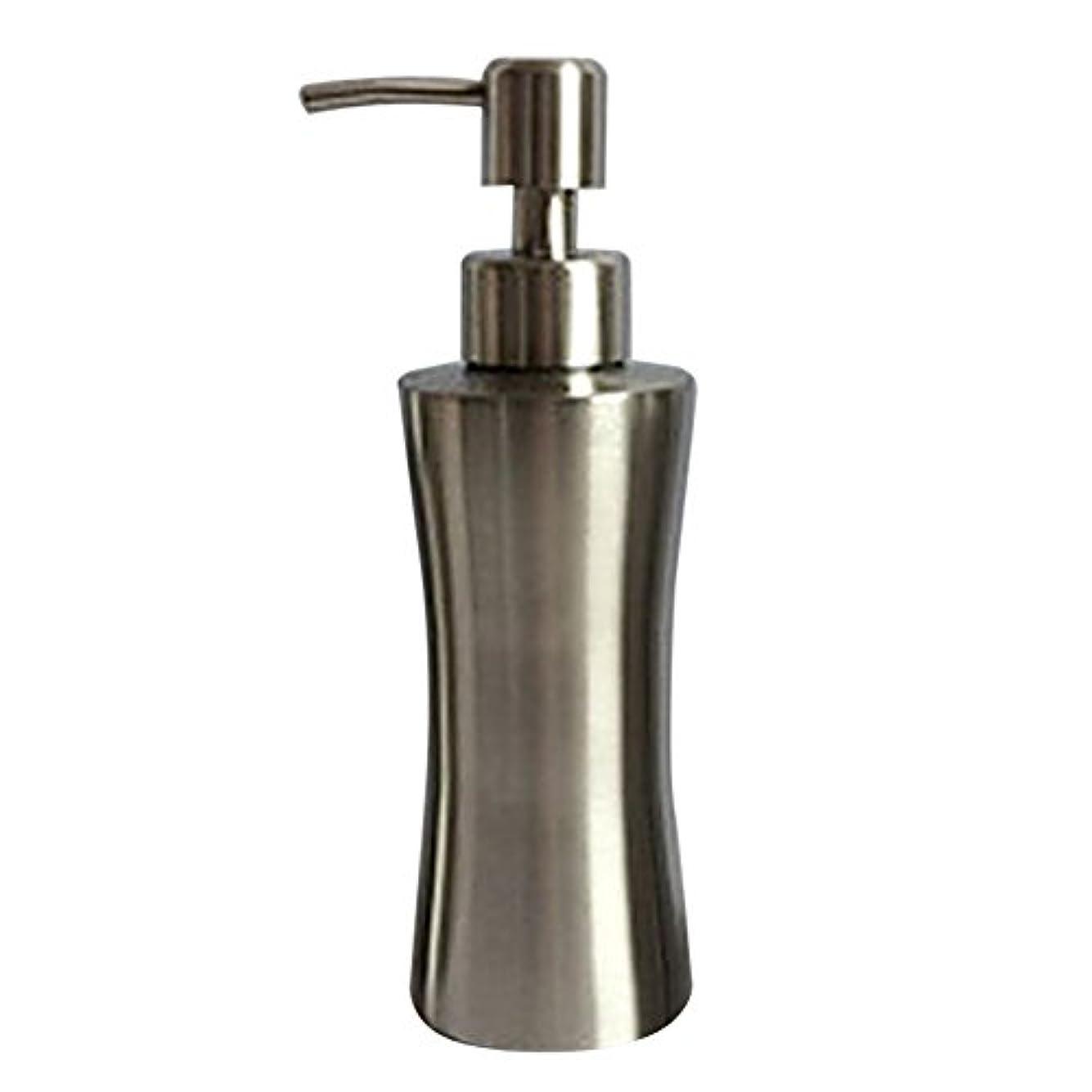 扱いやすい音声学中にディスペンサー ステンレス ボトル 容器 ソープ 石鹸 シャンプー 手洗いボトル 耐久性 錆びない 220ml/250ml/400ml (B:250ml)