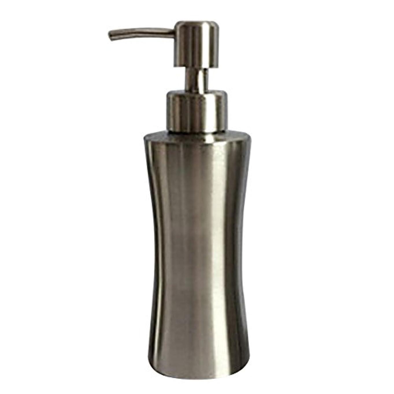 ビジュアルマイコン機知に富んだディスペンサー ステンレス ボトル 容器 ソープ 石鹸 シャンプー 手洗いボトル 耐久性 錆びない 220ml/250ml/400ml (B:250ml)