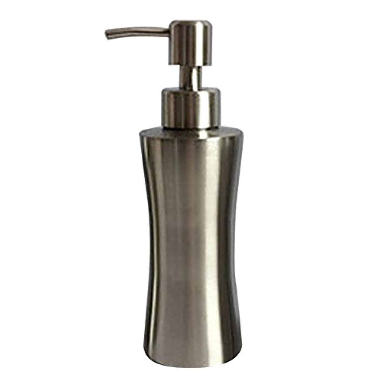 ブラザー船乗り軽蔑ディスペンサー ステンレス ボトル 容器 ソープ 石鹸 シャンプー 手洗いボトル 耐久性 錆びない 220ml/250ml/400ml (B:250ml)