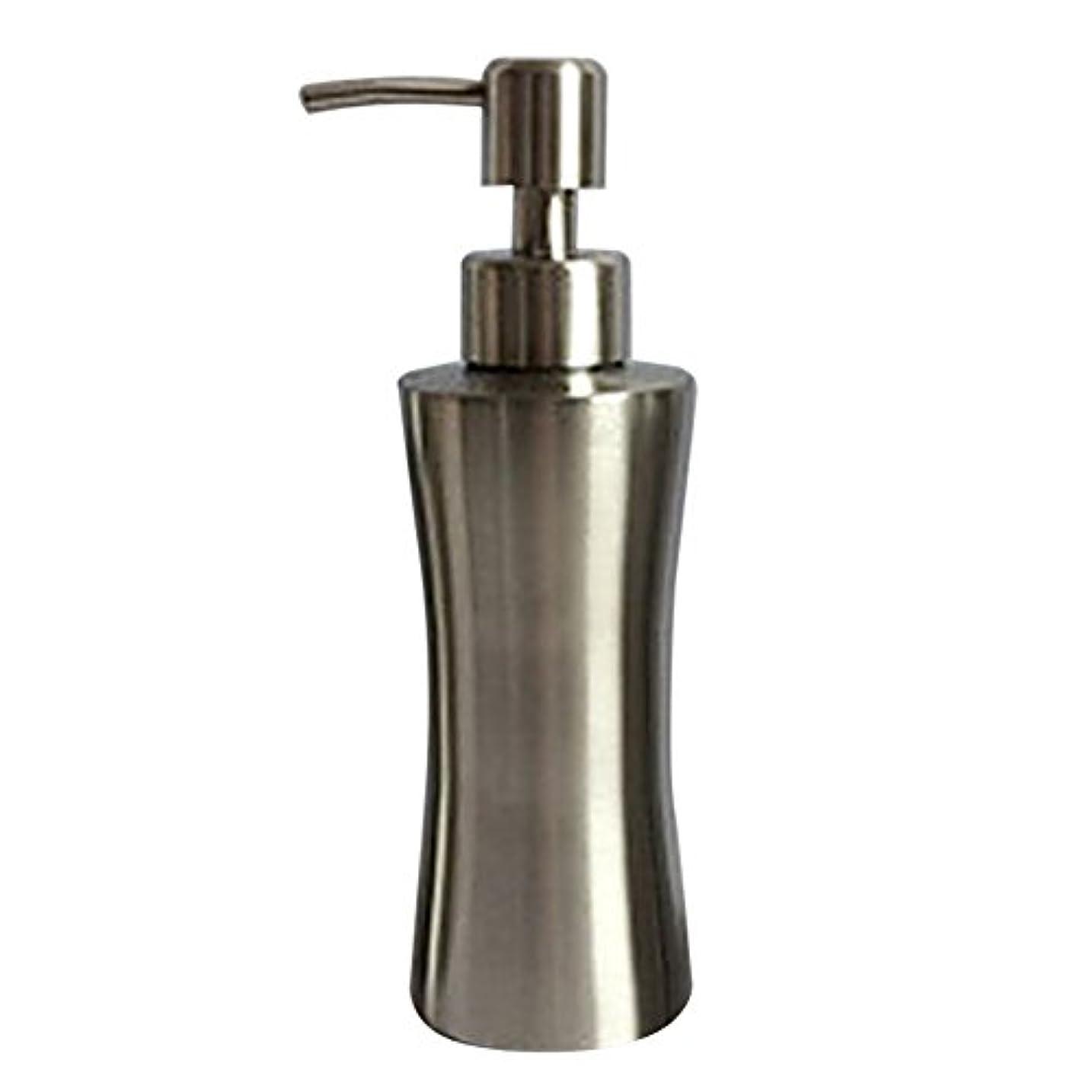 自分の力ですべてをする付けるイサカディスペンサー ステンレス ボトル 容器 ソープ 石鹸 シャンプー 手洗いボトル 耐久性 錆びない 220ml/250ml/400ml (B:250ml)