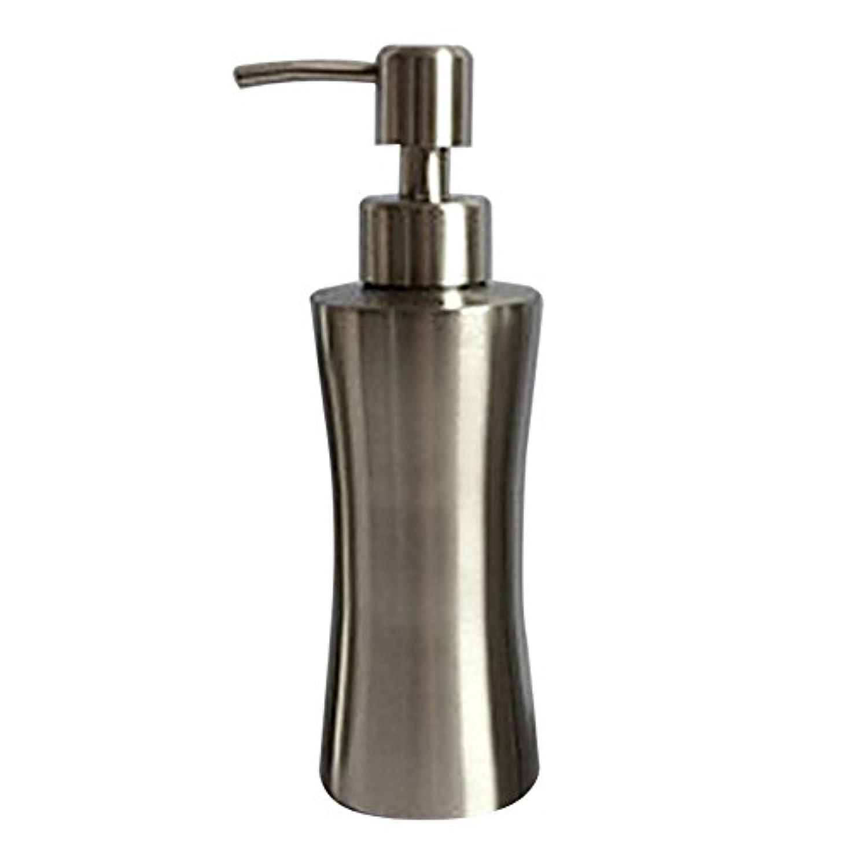 統合するブロック学生ディスペンサー ステンレス ボトル 容器 ソープ 石鹸 シャンプー 手洗いボトル 耐久性 錆びない 220ml/250ml/400ml (B:250ml)