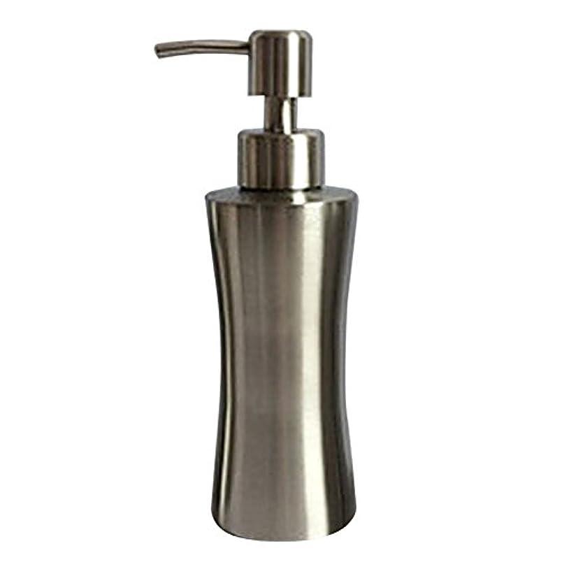 吸い込む賭け中級ディスペンサー ステンレス ボトル 容器 ソープ 石鹸 シャンプー 手洗いボトル 耐久性 錆びない 220ml/250ml/400ml (B:250ml)