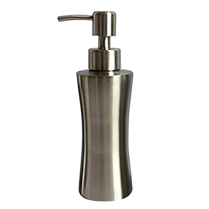 老人ものアルファベット順ディスペンサー ステンレス ボトル 容器 ソープ 石鹸 シャンプー 手洗いボトル 耐久性 錆びない 220ml/250ml/400ml (B:250ml)