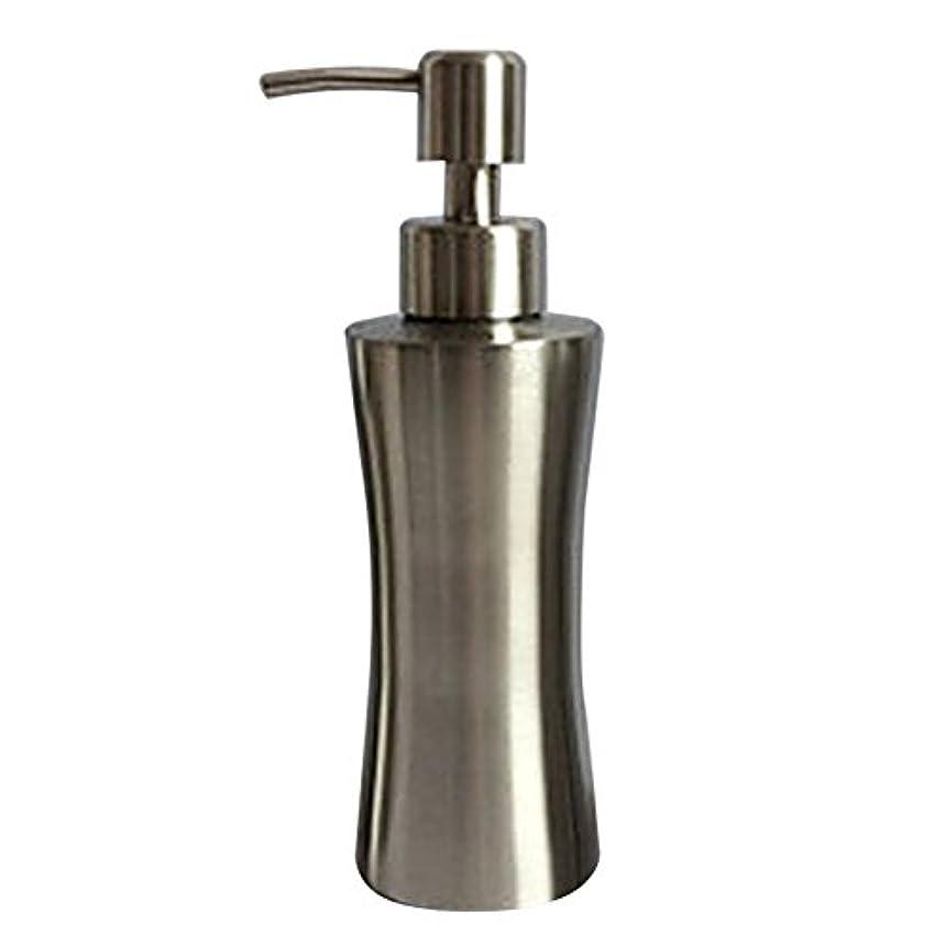 偏心受信機異議ディスペンサー ステンレス ボトル 容器 ソープ 石鹸 シャンプー 手洗いボトル 耐久性 錆びない 220ml/250ml/400ml (B:250ml)