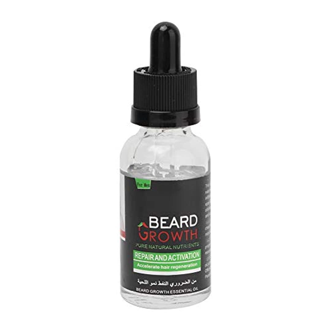 親指普遍的なブリード40ミリリットルひげケアオイル、男性ひげオイルひげソフト栄養モイスチャライジングバームひげケアオイル