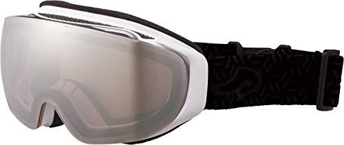 AXE(アックス) スキー メンズ ゴーグル 偏光レンズ ヘルメット対応 メガネ対応 ノーズフィット UVプロテクション マットホワイト AX899WMD