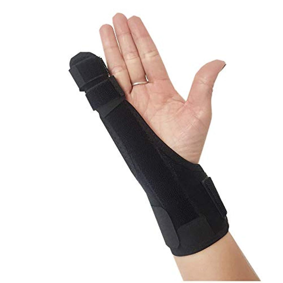 有望フレットボーカル親指、手首と手のひらのための指と手のイモビライザーの副木をトリガー|手根管、腱炎、関節炎のためのブレース