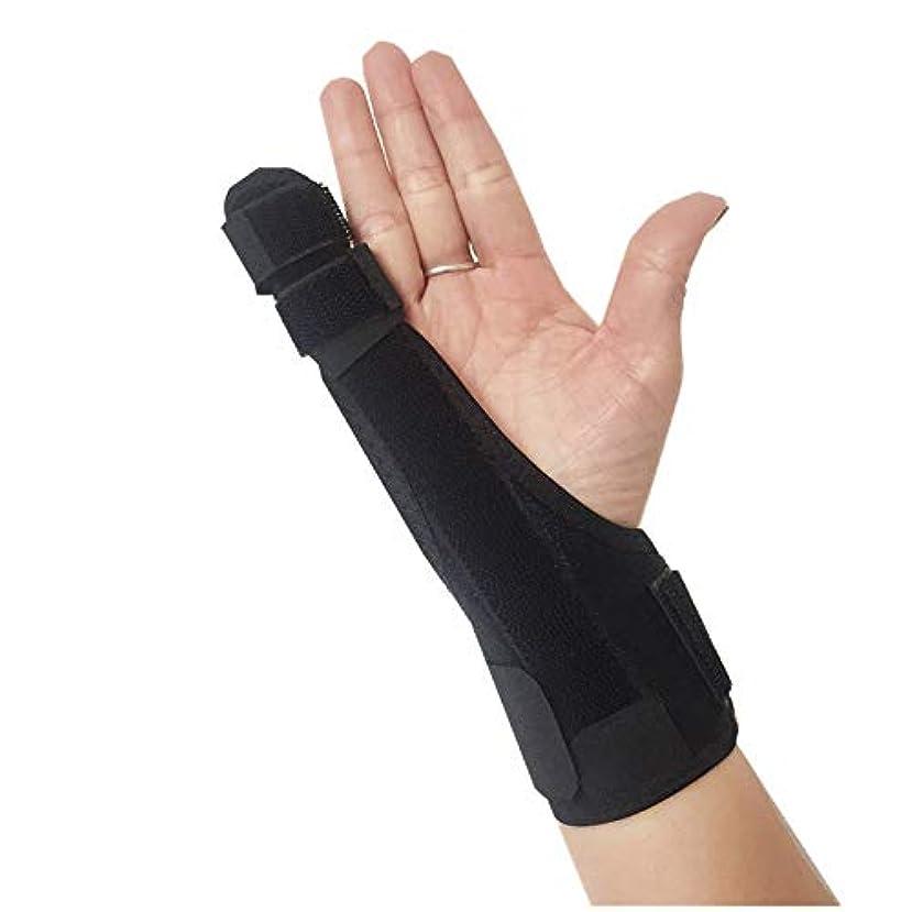 親指、手首と手のひらのための指と手のイモビライザーの副木をトリガー|手根管、腱炎、関節炎のためのブレース
