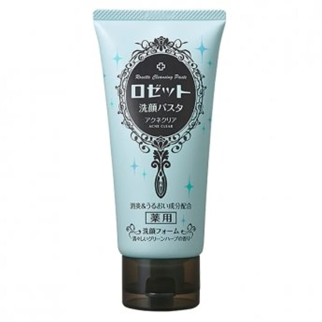 測る石鹸郵便番号ロゼット(ROSETTE) 洗顔パスタ アクネクリア 医薬部外品 120g×48点セット 清々しいグリーンハーブの香り(洗顔フォーム)