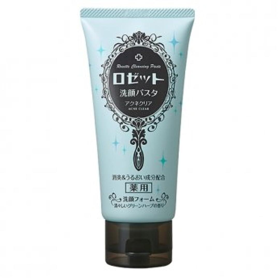 インチしてはいけない確率ロゼット(ROSETTE) 洗顔パスタ アクネクリア 医薬部外品 120g×48点セット 清々しいグリーンハーブの香り(洗顔フォーム)