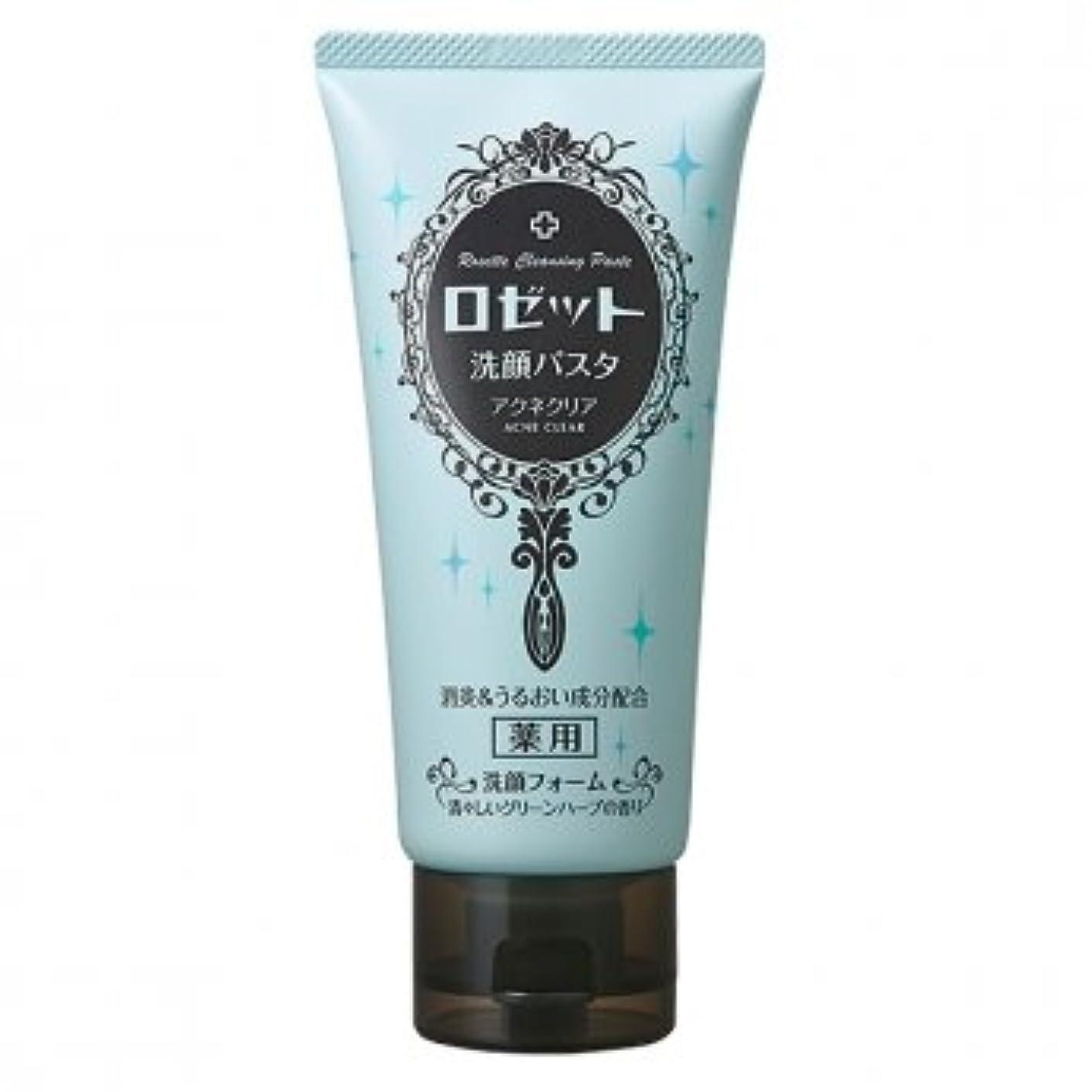 船フィードバック中世のロゼット(ROSETTE) 洗顔パスタ アクネクリア 医薬部外品 120g×48点セット 清々しいグリーンハーブの香り(洗顔フォーム)