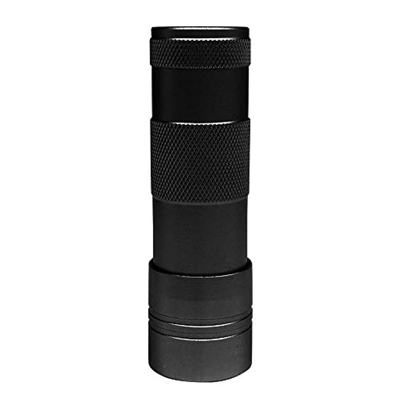 建築パトロン蒸留するLEDハンドライト(12灯)ペン型?ハンディ型 ジェルネイル (ブラック)