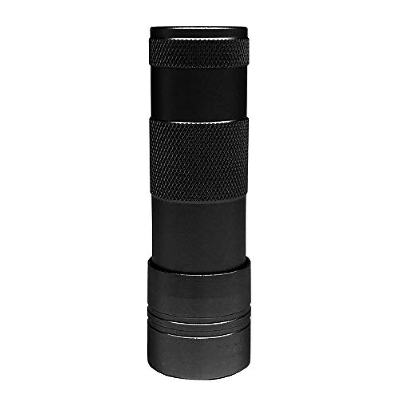ペリスコープ現実にはレザーLEDハンドライト(12灯)ペン型?ハンディ型 ジェルネイル (ブラック)