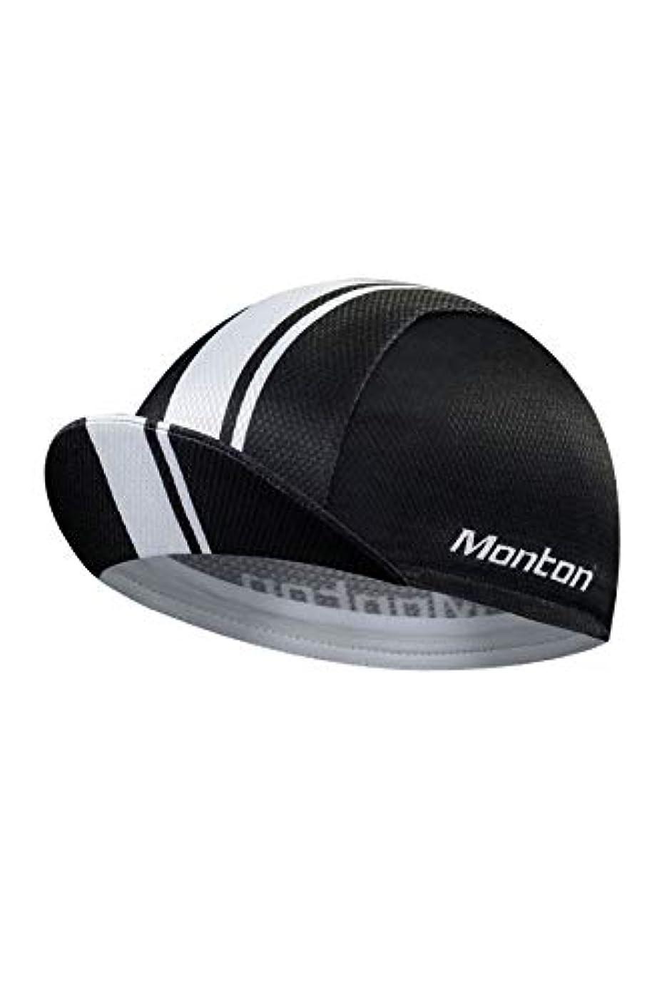 階層尽きる練習したMonton[モントン]サイクルキャップ(自転車用帽子)[Travele X Black] フリーサイズ