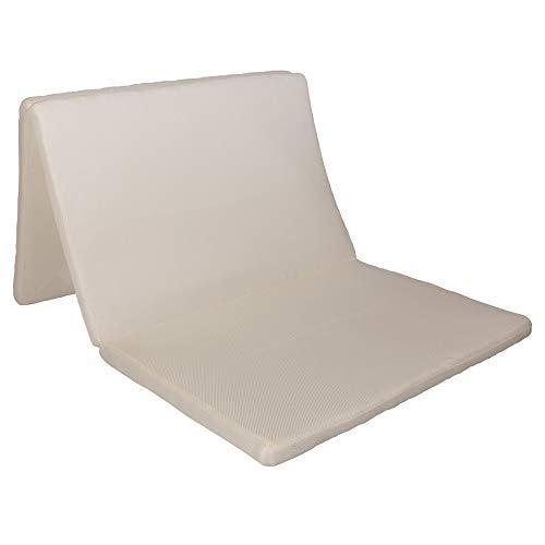 アイリスオーヤマ エアリーマットレス 高反発 三つ折り 通気性 洗える 抗菌防臭 シングル ホワイト MAR-S