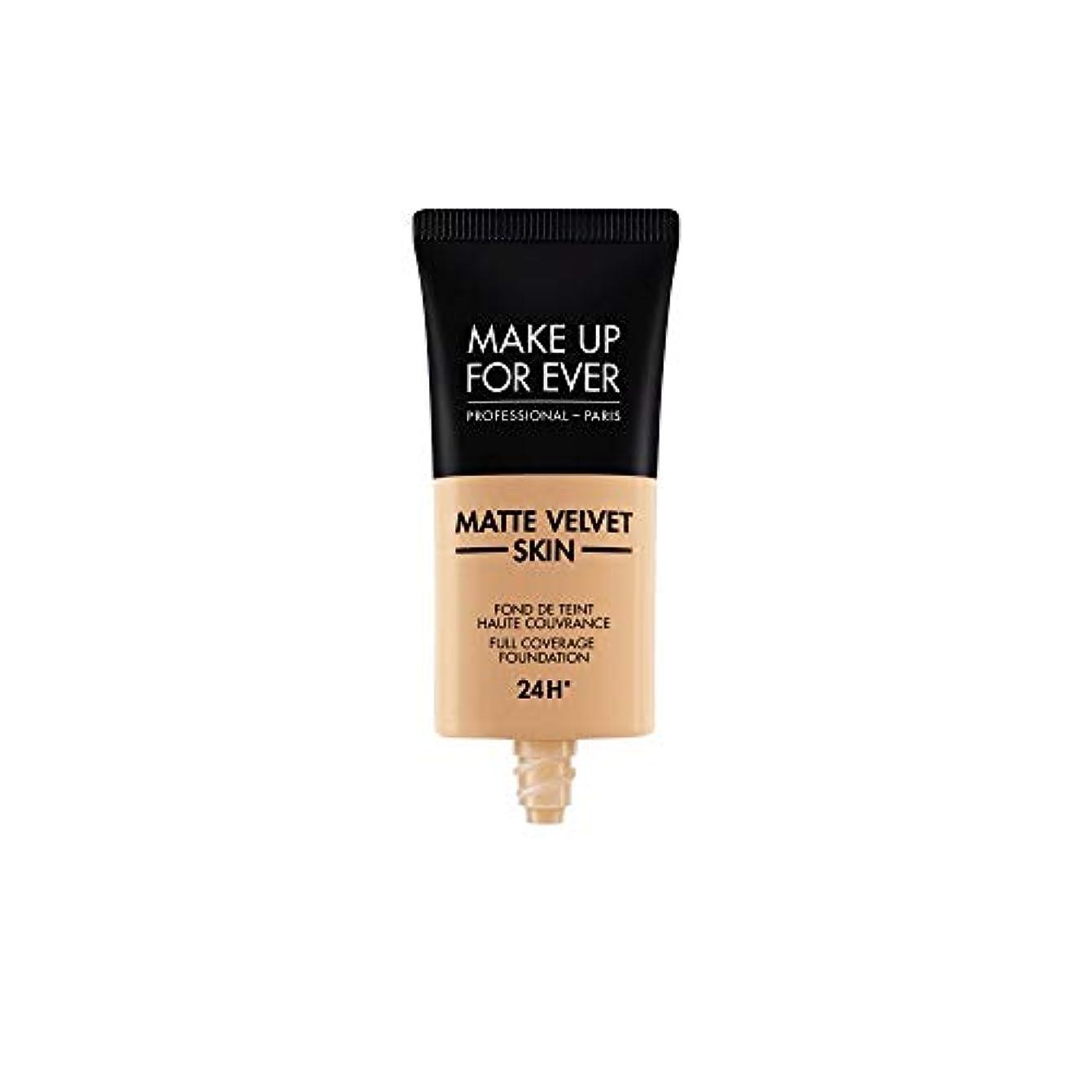 素晴らしい実現可能詩人メイクアップフォーエバー Matte Velvet Skin Full Coverage Foundation - # R370 (Medium Beige) 30ml/1oz並行輸入品