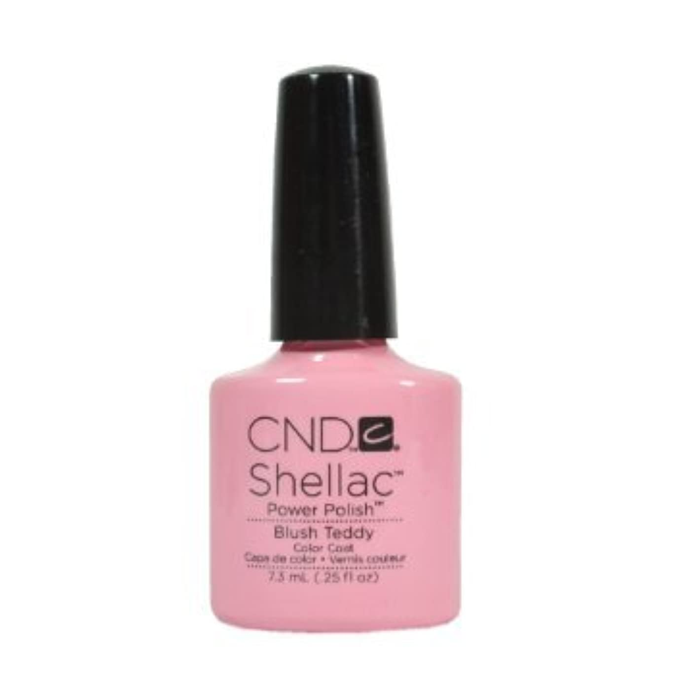 湖エンディング強制的CND Shellac Power Polish - Intimates Collection - Blush Teddy