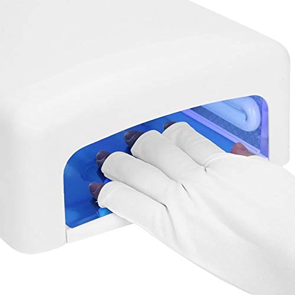 皿読みやすいタイヤUV シールド手袋、ジェル ? ポリッシュの紫外線保護手袋、ゲル爪紫外線乾燥硬化ランプ UV 爪ランプ