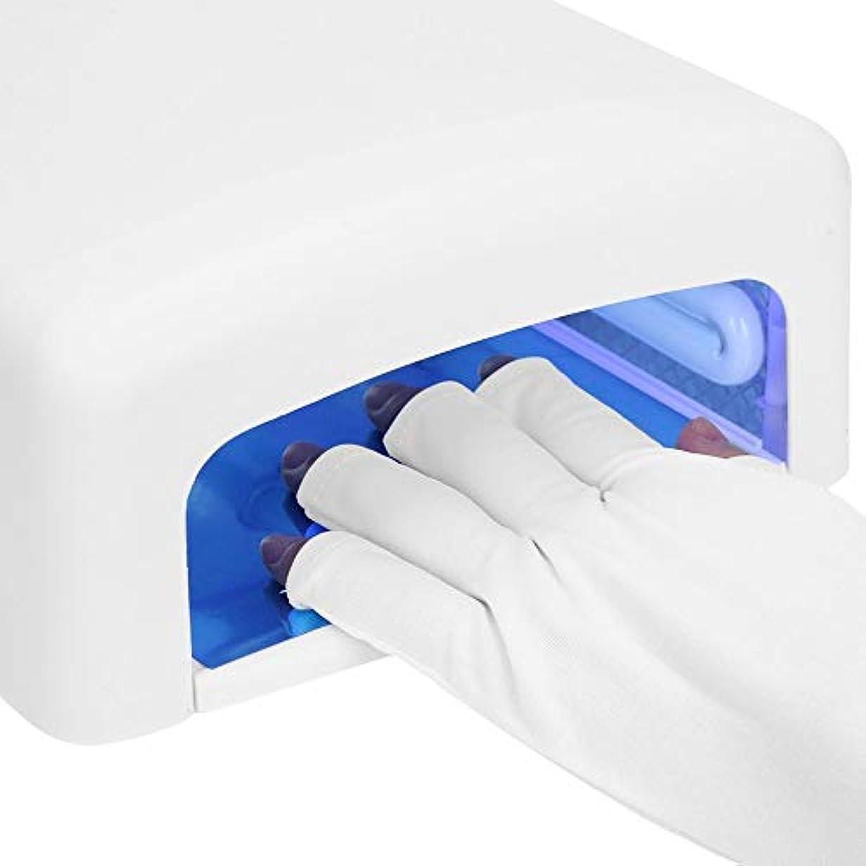 広い鹿遷移UV シールド手袋、ジェル ? ポリッシュの紫外線保護手袋、ゲル爪紫外線乾燥硬化ランプ UV 爪ランプ