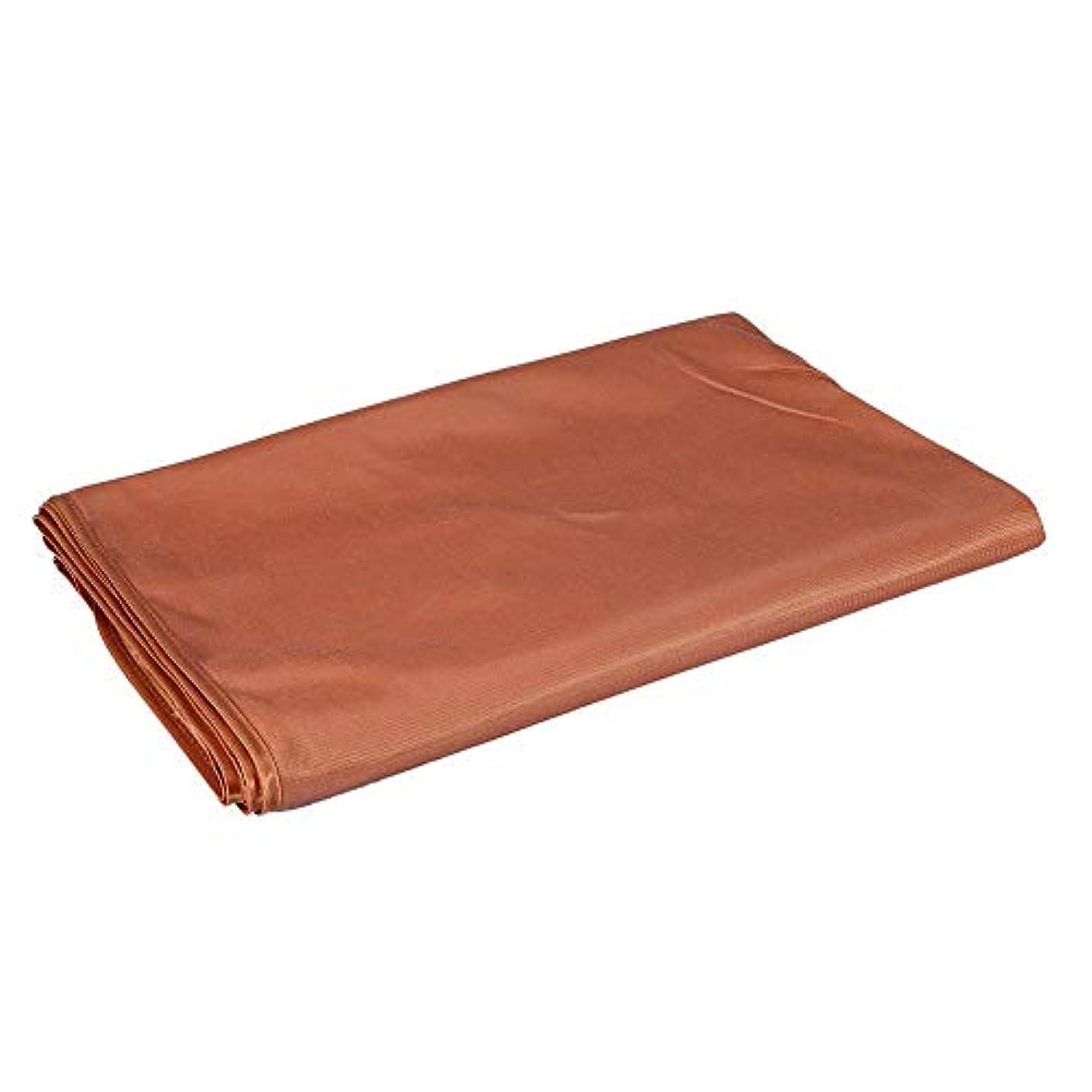 無臭へこみあいにく美のマッサージのベッドカバー、表面呼吸穴が付いている柔らかいシートの鉱泉(120 x 200cm-キャメル)