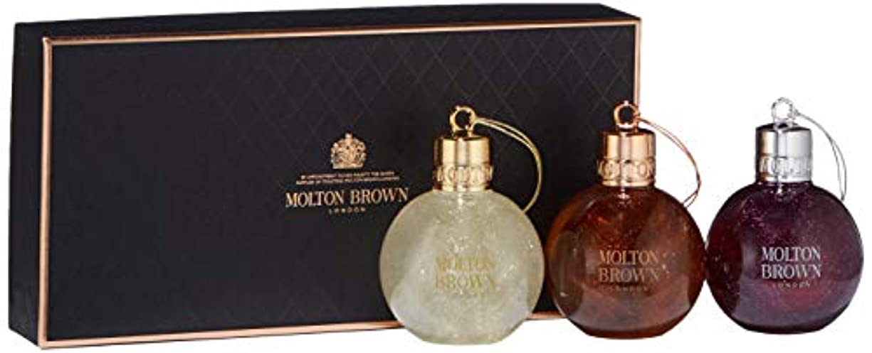 帰する台無しにひいきにするMOLTON BROWN(モルトンブラウン) フェスティブ ボーブル ギフトセット 75ml×3本