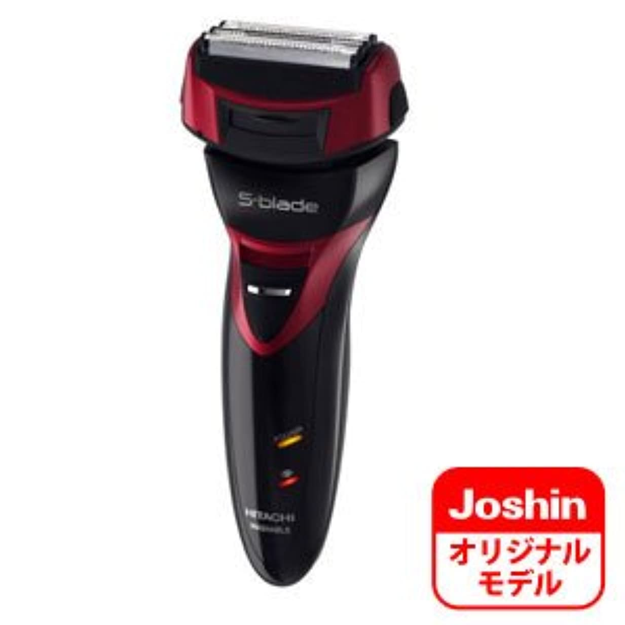 標高再発する感染する日立 メンズシェーバー(ディープレッド)HITACHI S-blade(エスブレード)【4枚刃】RM-F413のJoshinオリジナルモデル RM-F16J-R