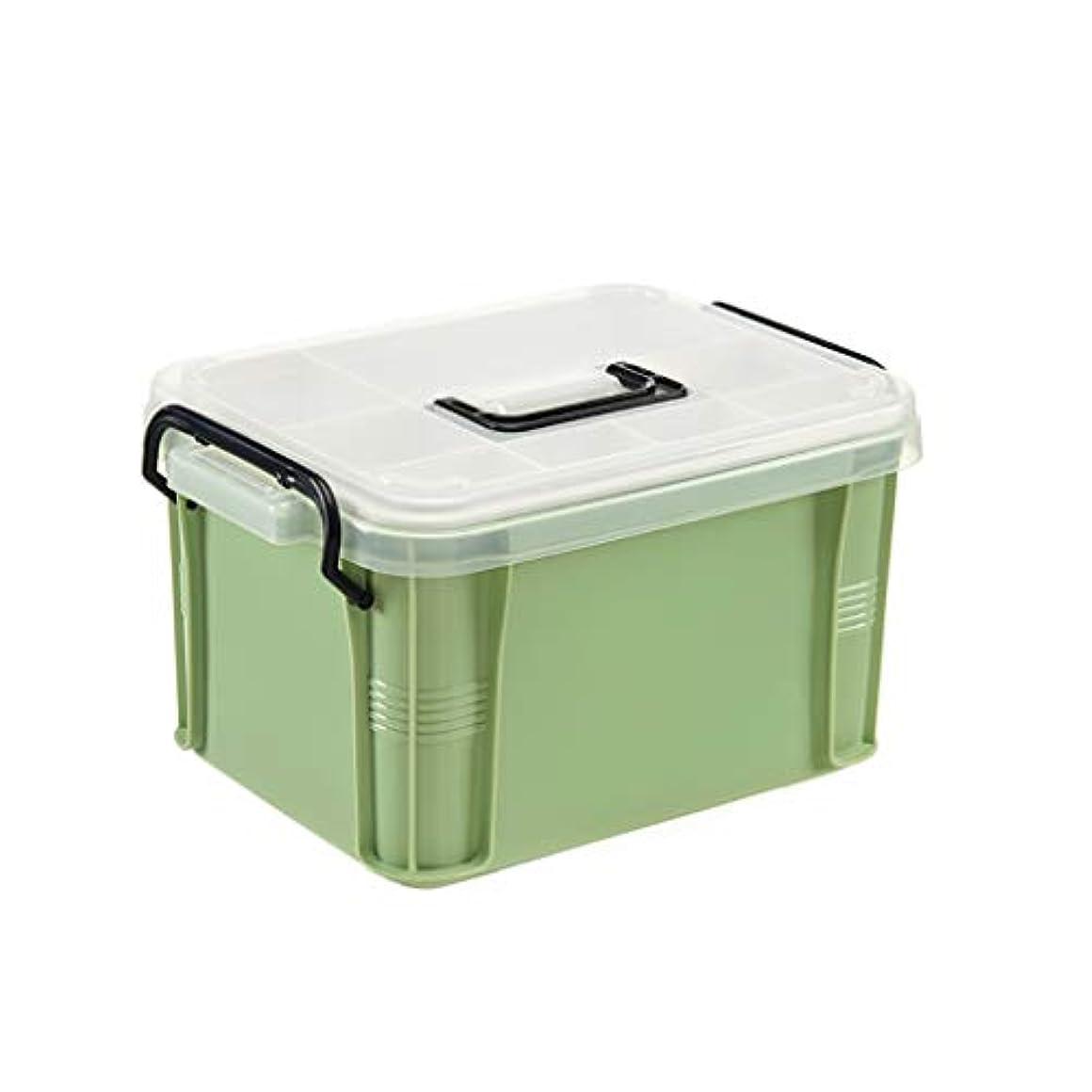 子免除するあいまい薬箱家庭用救急医療箱家族薬救急箱収納ボックスポータブル