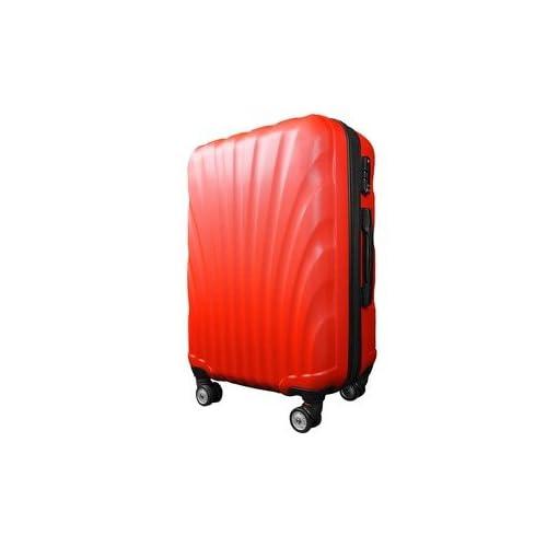スーツケース/キャリーバッグ 【Sサイズ/小型1~3日】 機内可(機内持ち込み) TSA搭載 軽量 ファスナー レッド(赤)