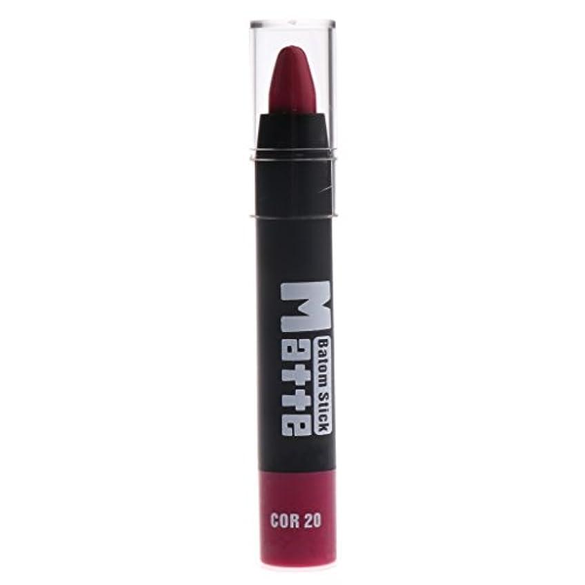 幸運無意味放棄マットリップスティック 口紅筆 約11x1.7x1.7cm ポータブルサイズ 全5色 - #B
