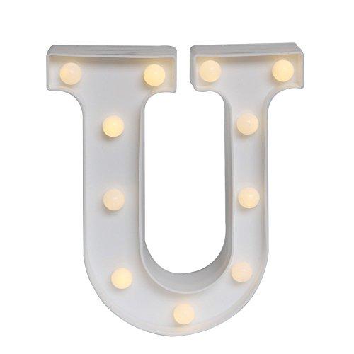 LED イルミネーション イニシャルライト アルファベットライト ホームイベント インテリア ギフト (U)