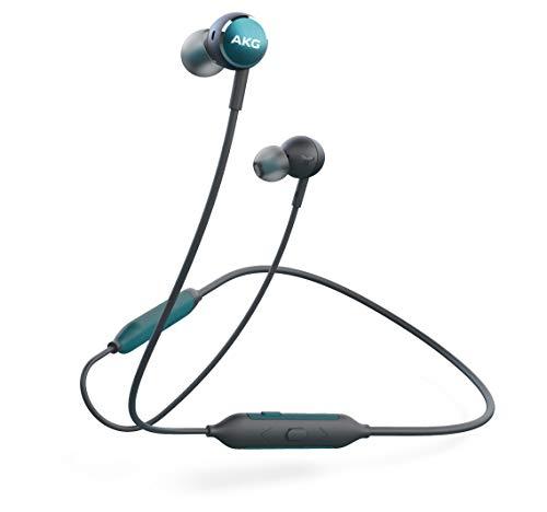 AKG Y100 WIRELESS Bluetoothイヤホン カナル型/AAC/アンビエントアウェア/3ボタンリモコン/通話マイク付き グリーン AKGY100BTGRN 【国内正規品/メーカー保証1年付き】