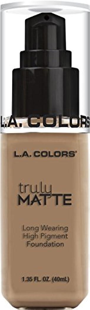 風刺漂流特殊L.A. COLORS Truly Matte Foundation - Cool Beige (並行輸入品)