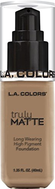 とんでもない愛情深い攻撃L.A. COLORS Truly Matte Foundation - Cool Beige (並行輸入品)