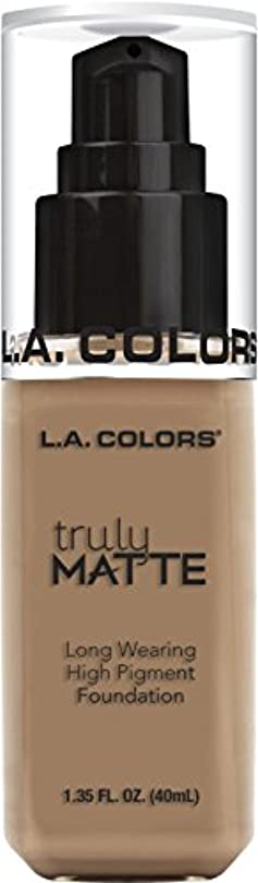 オーケストラも毒L.A. COLORS Truly Matte Foundation - Cool Beige (並行輸入品)
