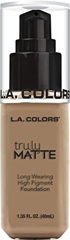 に対処する変わる緊張するL.A. COLORS Truly Matte Foundation - Cool Beige (並行輸入品)
