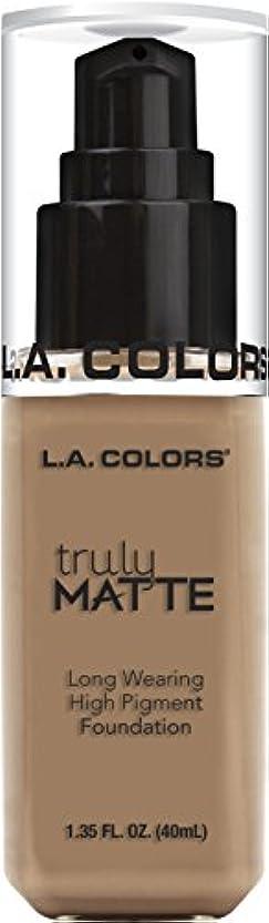 L.A. COLORS Truly Matte Foundation - Cool Beige (並行輸入品)