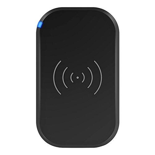 CHOETECH QI ワイヤレス充電器 3コイル搭載 USBケーブル付属 ACアダプタ別売 (ブラック)