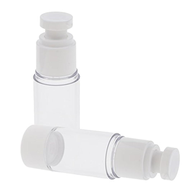 不十分矩形太い2ピース/個エアレスポンプボトル15mL / 30mL / 50mLトラベルローションクリームポータブル化粧品 - 30ミリリットル