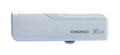 KINGMAX Popシリーズ PD-02 USBメモリー16GB White ReadyBoost対応 キャップいらずのスライド式USB Kingmax PD-02 WH16GB