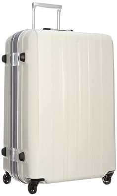 [サンコー] SUNCO 軽量スーツケース SUPER LIGHTS 69cm 92L 4.2kg マグネシウムフレーム HINOMOTOキャスター TSAロック (エンボスアイボリー)SMGE-69
