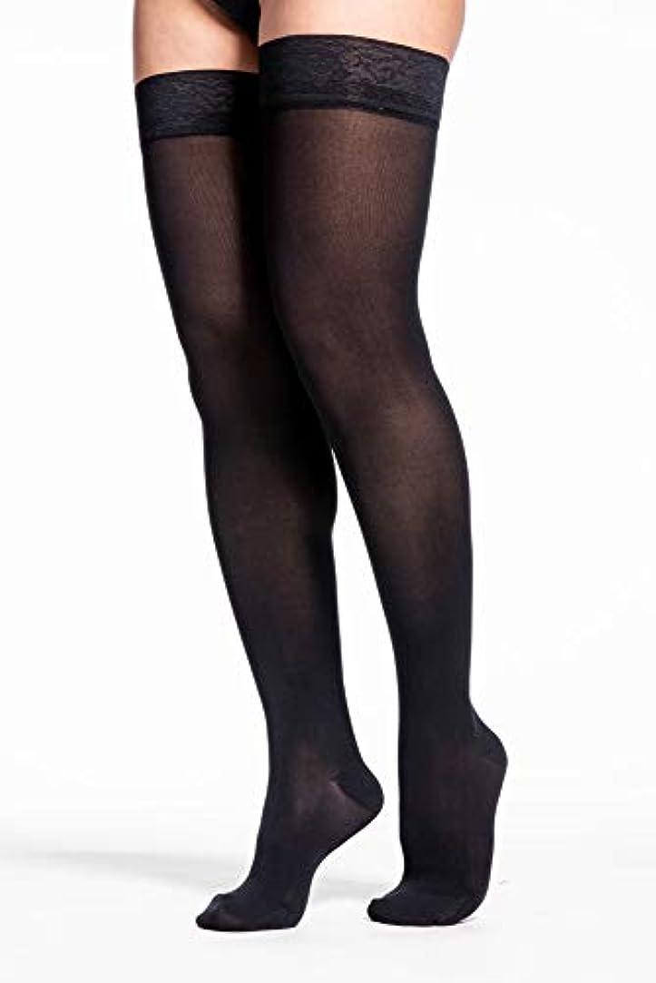遠足ガソリン捧げるSigvaris 841N Soft Opaque 15-20 mmHg Closed Toe Thigh Highs Color: Black 99, Size: Medium Long (ML) by Sigvaris