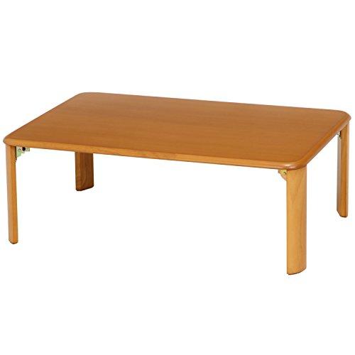 不二貿易 折脚ローテーブル 幅90×奥行60×高さ32cm ナチュラル 40141