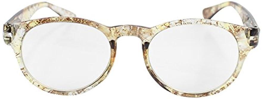 フィールドワーク 老眼鏡 ブルーライトカット メンズ +2.0 度数 フラージュ ボストン ケース付き イエロー LT-5208-1YE+2.0