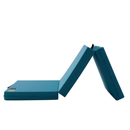 マニフレックス 三つ折り マットレス 高反発 メッシュ・ウィング ミッドブルー ダブル 【10年保証】【外して洗える側地】※コンパクトなロール圧縮梱包