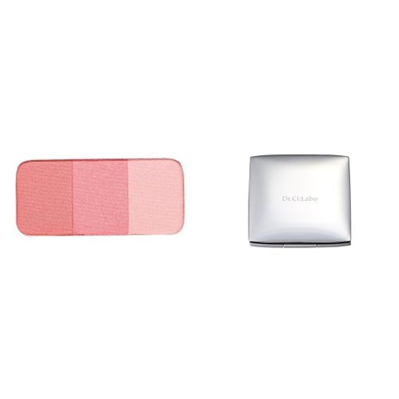 一緒堤防ビーズ【セット買い】ドクターシーラボ チークカラー ピンク 3色セット&ケース